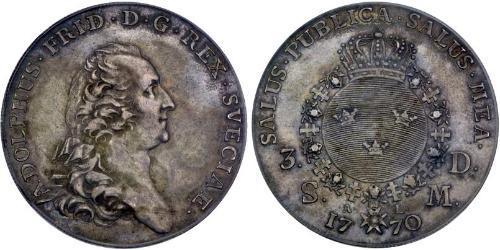 1 Riksdaler Sweden Silver Adolf Frederick of Sweden (1710 - 1771)