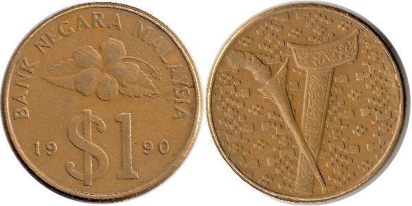 1 Ringgit Malasia (1957 - ) Tin/Cobre/Zinc