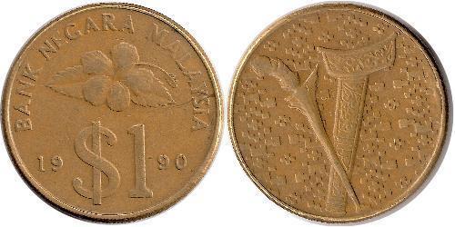 1 Ringgit Malaysia (1957 - ) Tin/Kupfer/Zink
