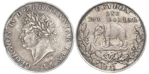 1 Rixdollar Sri Lanka Argent George IV (1762-1830)