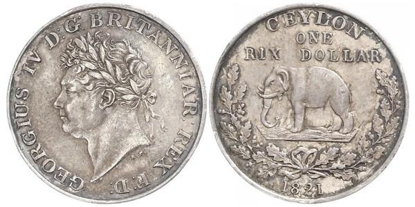 1 Rixdollar Sri Lanka/Ceylon Silver George IV (1762-1830)