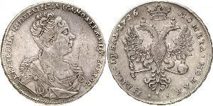 1 Rouble Empire russe (1720-1917) Argent Catherine I (1684-1727)