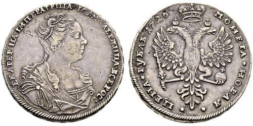 1 Rubel Russisches Reich (1720-1917) Silber Katharina I (1684-1727)