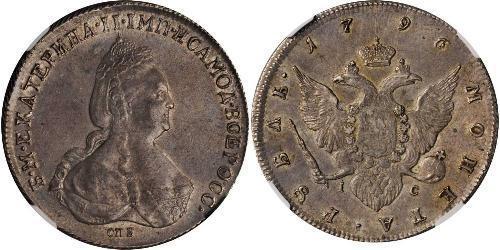 1 Rubel Russisches Reich (1720-1917) Silber Katharina II (1729-1796)