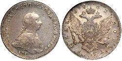 1 Ruble 俄罗斯帝国 (1721 - 1917) 銀 Peter III (1728-1762)
