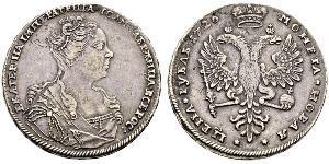 1 Ruble 俄罗斯帝国 (1721 - 1917) 銀 叶卡捷琳娜一世 (1684 - 1727)