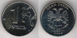 1 Ruble Russian Federation (1991 - ) / Russia Copper/Nickel