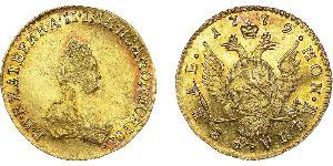 1 Ruble Russian Empire (1720-1917) Gold Catherine II (1729-1796)