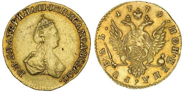 1 Ruble Russian Empire (1720-1917) Gold Catherine II (1729-1796)