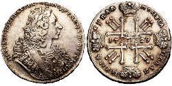 1 Ruble Russian Empire (1720-1917) Silver Peter II (1715-1730)