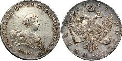 1 Ruble Russian Empire (1720-1917) Silver Ivan VI Antonovich (1740-1764)