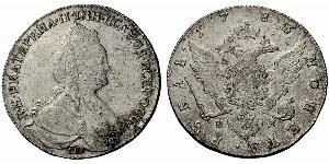 1 Ruble Russian Empire (1720-1917) Silver Catherine II (1729-1796)