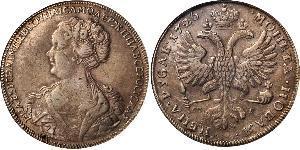 1 Ruble Russian Empire (1720-1917) Silver Catherine I (1684-1727)