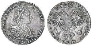 1 Ruble Russian Empire (1720-1917) Silver Peter the Great (1672-1725)