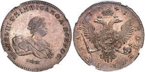 1 Rublo Impero russo (1720-1917) Argento Ivan VI Romanov (1740-1764)
