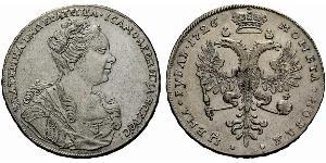 1 Rublo Impero russo (1720-1917) Argento Caterina I (1684-1727)