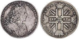 1 Rublo Impero russo (1720-1917) Argento Pietro II (1715-1730)