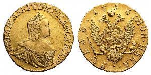 1 Rublo Impero russo (1720-1917) Oro Elisabetta I (1709-1762)
