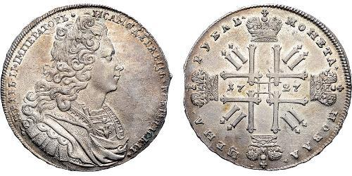1 Rublo Imperio ruso (1720-1917) Plata Pedro II (1715-1730)