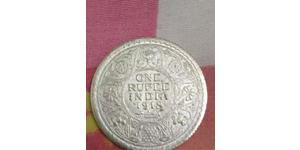 1 Rupee 英属印度 (1858 - 1947) 銀 乔治五世  (1865-1936)