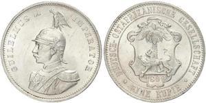 1 Rupee German East Africa (1885-1919) 銀