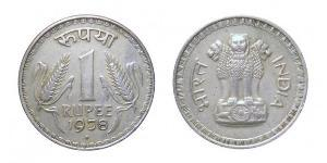 1 Rupee India (1950 - ) Acciaio