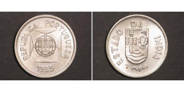 1 Rupee Inde portugaise (1510-1961) Argent