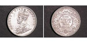 1 Rupee Raj britannique (1858-1947) Argent George V (1865-1936)