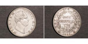1 Rupee Raj britannique (1858-1947) Argent Guillaume IV (1765-1837)