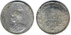 1 Rupee Africa Orientale Tedesca (1885-1919) Argento