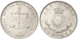 1 Rupee Impero britannico (1497 - 1949) Argento