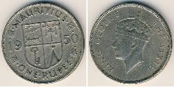 1 Rupee Mauritius Kupfer/Nickel