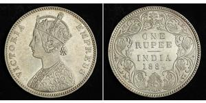 1 Rupee Britisch-Indien (1858-1947) Silber Victoria (1819 - 1901)