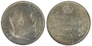 1 Rupee Britisch-Indien (1858-1947) Silber Eduard VII (1841-1910)