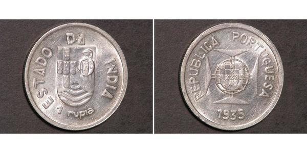 1 Rupee Portugiesisch-Indien (1510-1961) Silber