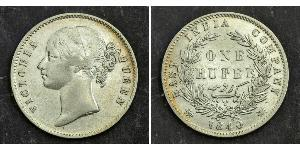 1 Rupee British East India Company (1757-1858) Silver Victoria (1819 - 1901)