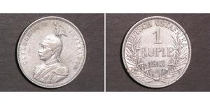 1 Rupee German East Africa (1885-1919) Silver