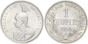 1 Rupee German East Africa (1885-1919) Silver Wilhelm II, German Emperor (1859-1941)