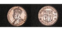1 Rupee Mauritius Silver George V of the United Kingdom (1865-1936)