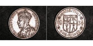 1 Rupee Mauritius Silver George V of the United Kingdom (1865-1936)