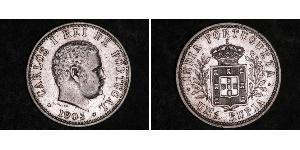 1 Rupee Portuguese India (1510-1961) Silver Carlos I of Portugal (1863-1908)