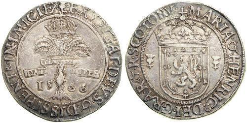 1 Ryal Kingdom of Scotland (843-1707) Silver Mary I of Scots (1542-1587)