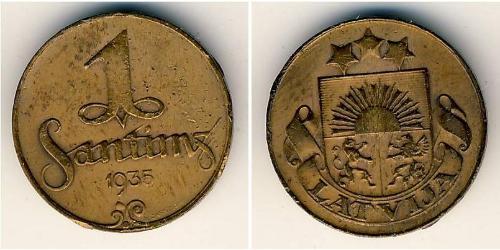 1 Santims Letlönj Bronze