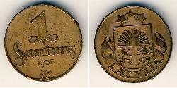 1 Santims Lettland Bronze