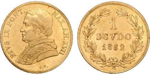 1 Scudo Kirchenstaat (752-1870) Gold Pius IX (1792- 1878)