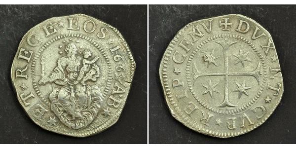 1 Scudo Italian city-states Silber
