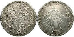 1 Scudo Kirchenstaat (752-1870) Silber Pius VII (1742 -1823)