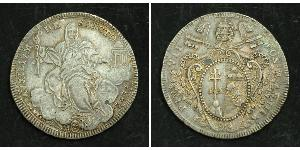 1 Scudo Papal States (752-1870) Silver Pope Pius VII (1742 -1823)