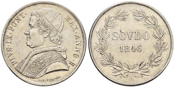 1 Scudo Estados Pontificios (752-1870)  Pío IX (1792- 1878)