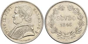 1 Scudo Kirchenstaat (752-1870)  Pius IX (1792- 1878)